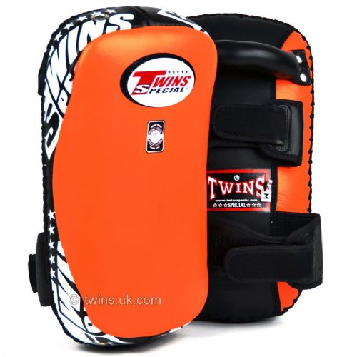 Twins KPL-10 Curved Thai Kick Pads - Orange